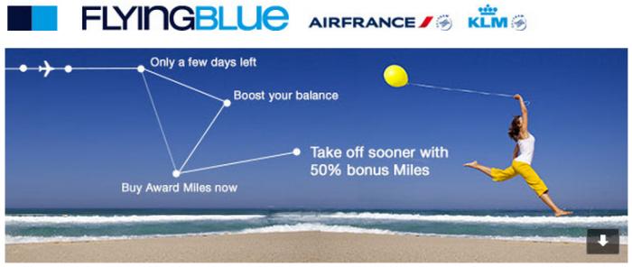 Air France-KLM Flying Blue Buy Miles Up To 50 Percent Bonus July 21 2015