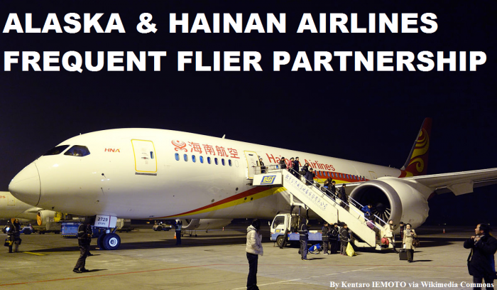 Alaska Airlines Hainan Frequent Flier Partnership
