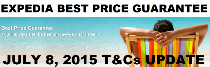 Expedia Best Price Guarantee Changes July 8 2015