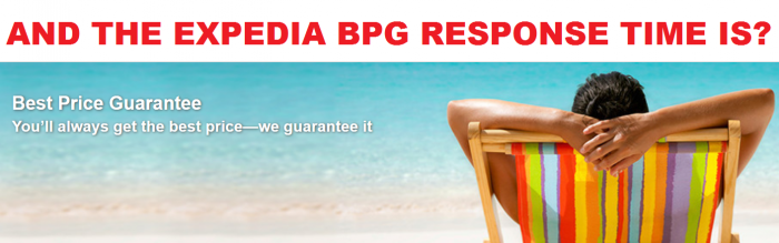 Expedia Best Price Guarantee Response Time