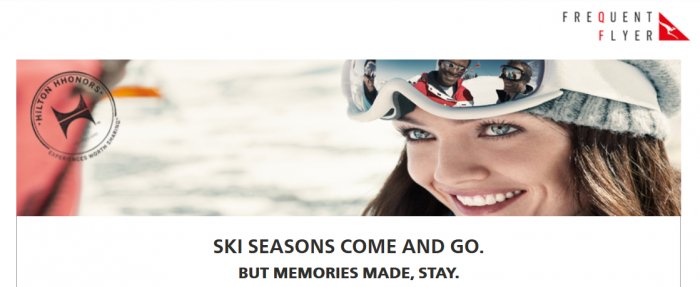 Hilton HHonors Qantas Frequent Flyer Niseko Village 5000 Bonus Points December 1 March 15 2016