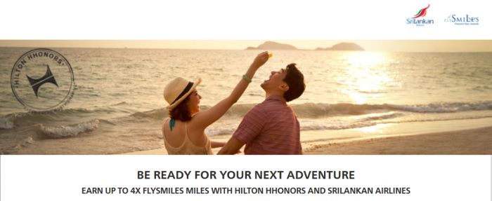 Hilton HHonors SriLankan Up To Quadruple Miles July 1 - August 31 2015