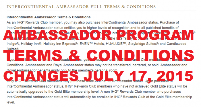 IHG Rewards Club July 17 2015 Terms & Conditions Changes
