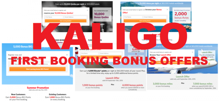 Kaligo First Booking Bonus Offers 1000 to 5000 Miles