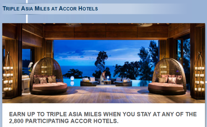 Le Club Accorhotels Cathay Pacific Asia Miles July 7 - September 15 2015