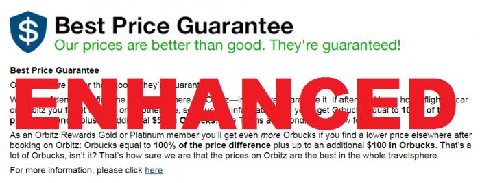 Orbitz Best Price Guarantee Enhanced