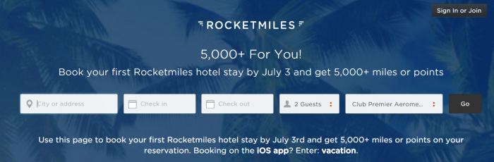 RocketMiles 5,000 Miles First Booking All Partners