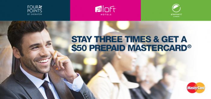 SPG Aloft Element Four Points $50 Gift Card After 3 Stays July 15 September 30 2015
