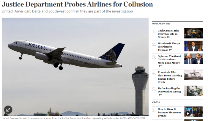 US Airline Collusion