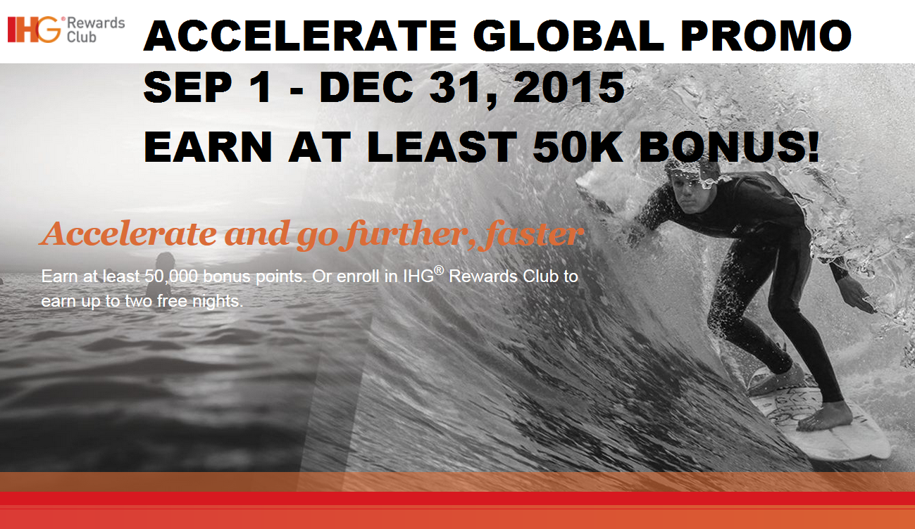 Ihg rewards club accelerate promotion free nights amp bonus points