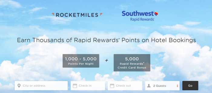 Rocketmiles Southwest Airlines 5,000 Bonus Points First Purchase September 30 2015