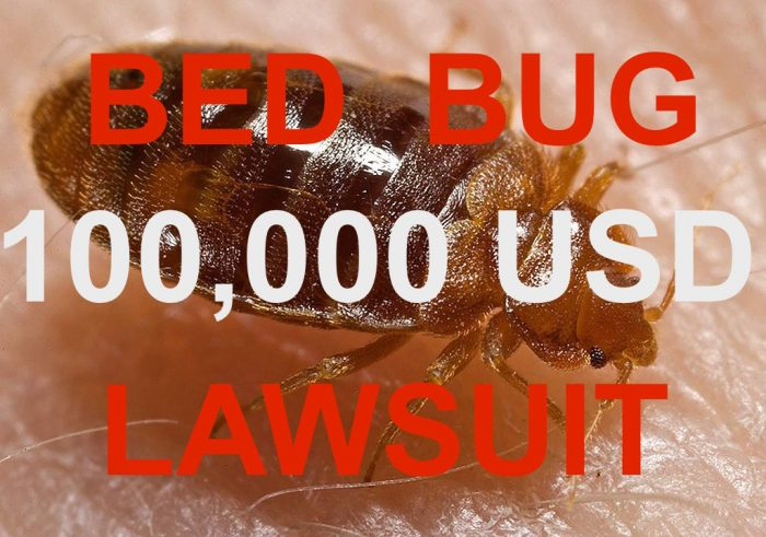 Red roof inn lawsuit over bed bugs nets 100000 usd for Bed bug litigation