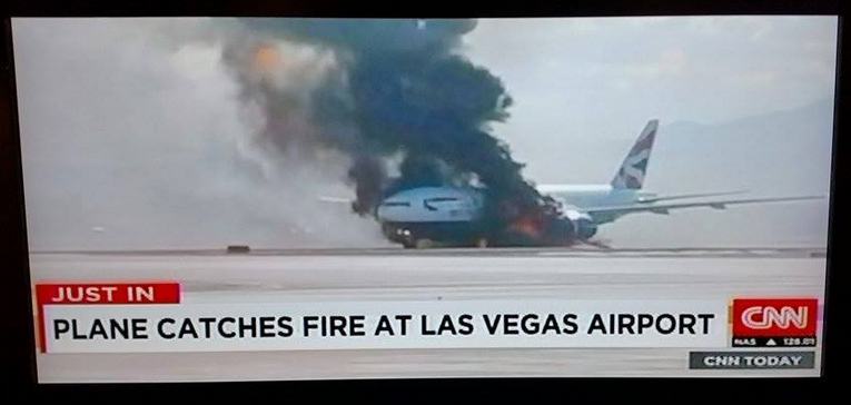 British Airways Las Vegas To London Gatwick Catches Fire