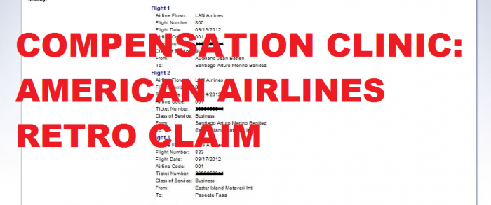 Compensation Clinic American Airlines Retro Claim