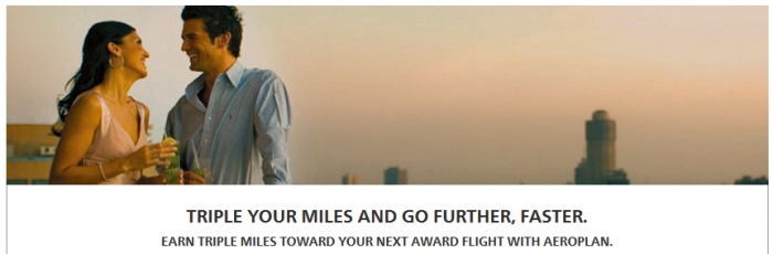 Hilton HHonors Air Canada Aeroplan Triple Miles September 1 December 31 2015