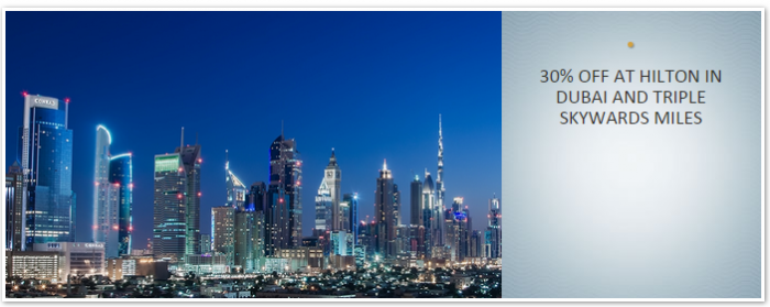 Hilton HHonors Emirates Skywards Triple Miles Offer September 7 November 30 2015