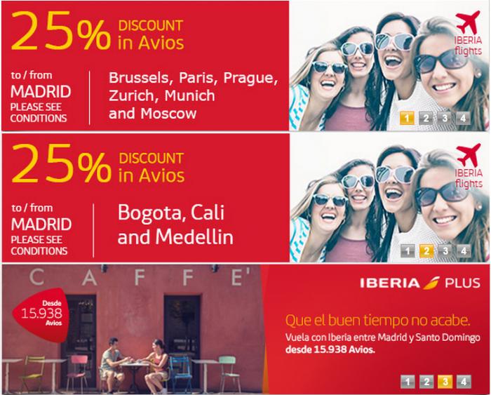 Iberia Plus Discount Award Destinations