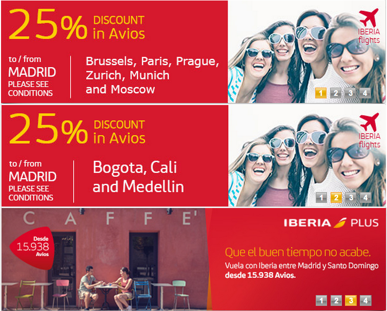 Iberia plus 20 off september october november award for Cheap vacations in october