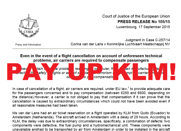 KLM Pay Up