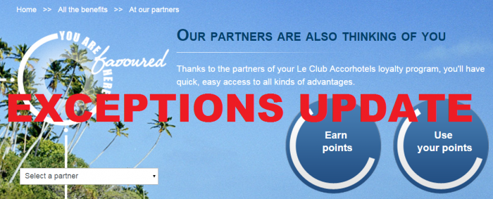 Le Club Accorhotels Partner Airline Earning Conversions Exceptions