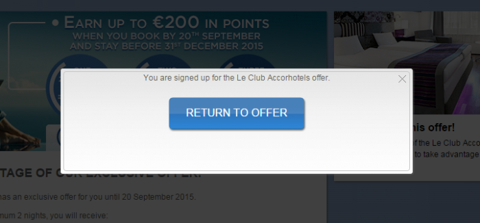 Le Club Accorhotels 10,000 Bonus Points For Three Stays September 9 – December 31, 2015 (Book By September 20) Confirmation