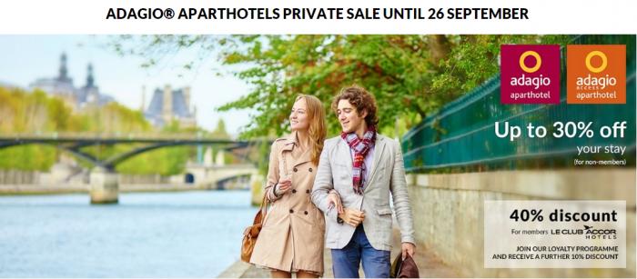 Le club accorhotels adagio 40 off private sale for stays for Adagio accor