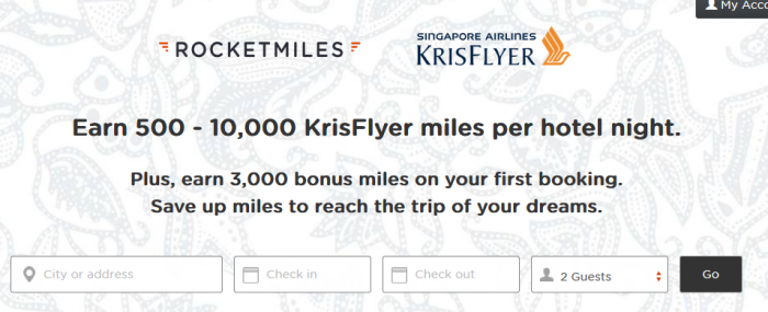 Rocketmiles Singapore Airlines 3,000 Bonus Miles First Booking By December 31, 2015