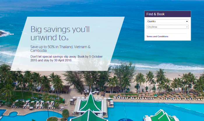 Starwood Preferred Guest SPG Thailand Vietnam Cambodia Up To 50 Percent Off Sale For Stays April 30 2016
