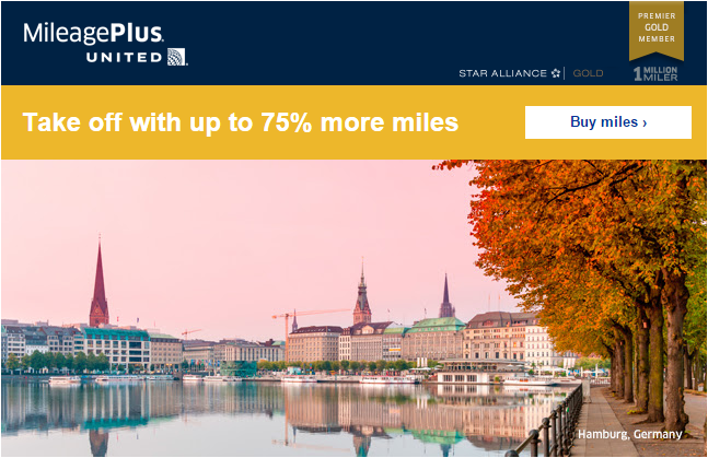 United Airlines MileagePlus Buy Miles Promo September 2015