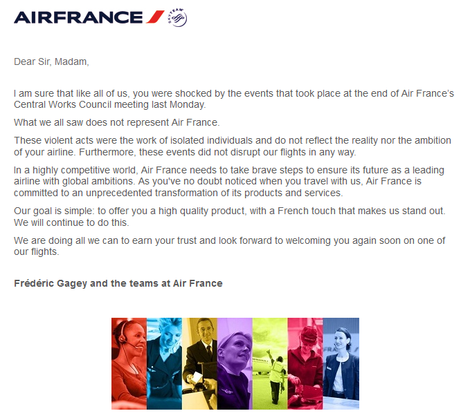 Air France Email