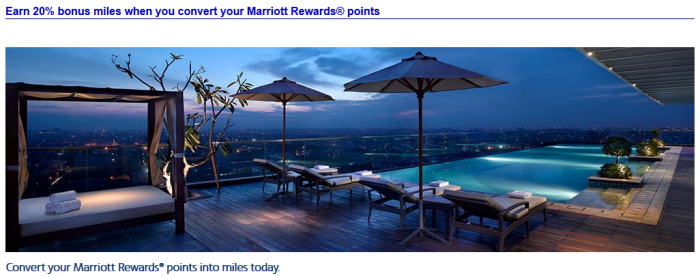 American Airlines Marriott Rewards 20 Percent Conversion Bonus October 1 - 31 2015
