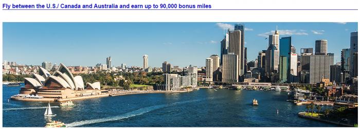 American Airlines North America - Australia Up To 90,000 Bonus Miles