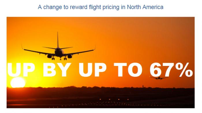 British Airways Executive Club Award Price Change North America
