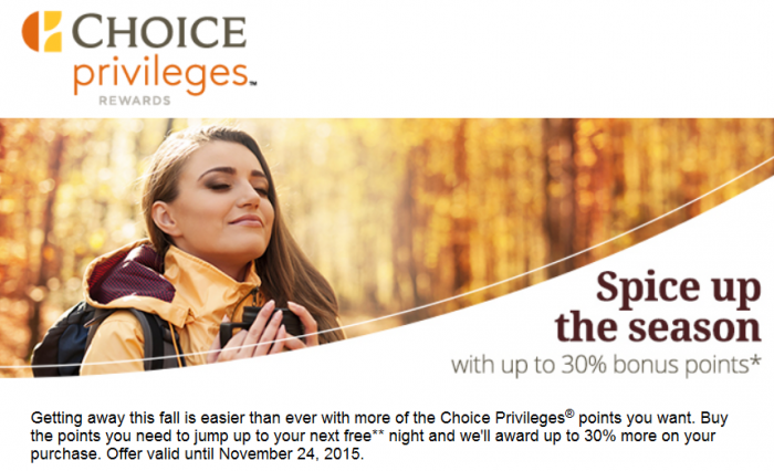 Choice Privileges Buy Points Fall 2015 Campaign