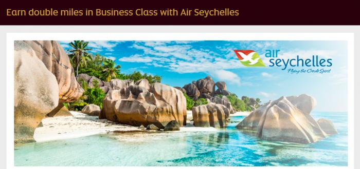 Etihad Airways Etihad Guest Double Miles Air Seychelles