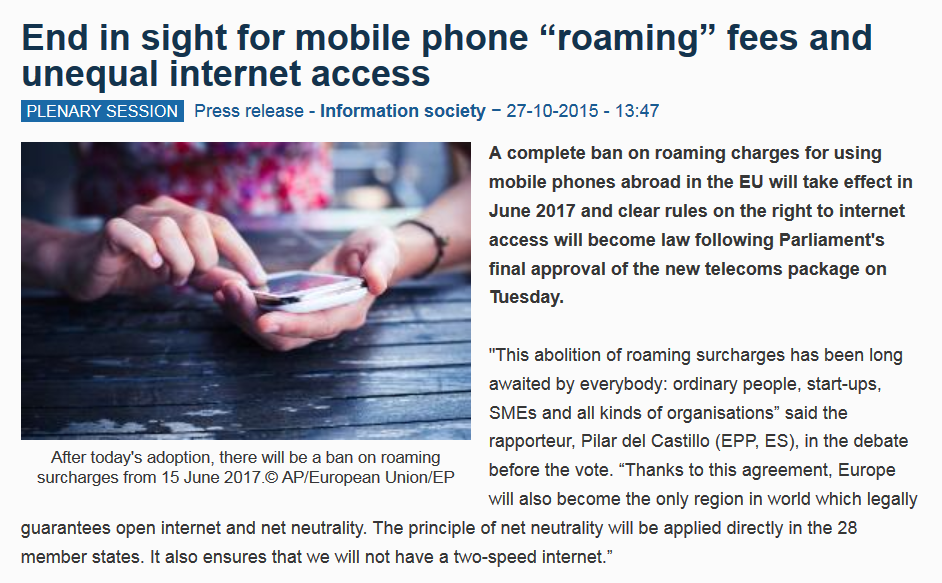 european union to abolish roaming charges from  european union to abolish roaming charges from 15 2017 loyaltylobby