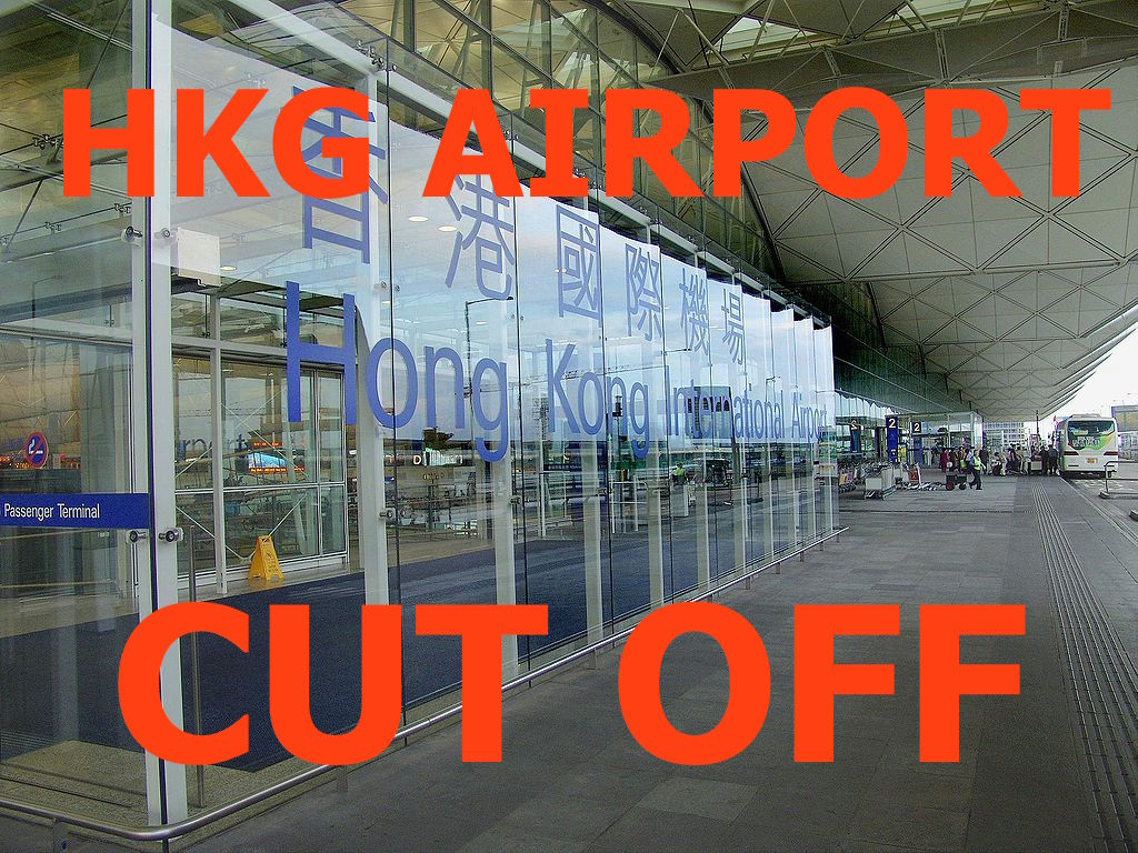 Hong Kong Airport (Lantau Island) Cut Off From Mainland