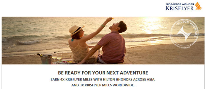 Hilton HHonors Singapore Airlines Up To Quadruple KrisFlyer Miles October 1 January 31 2016