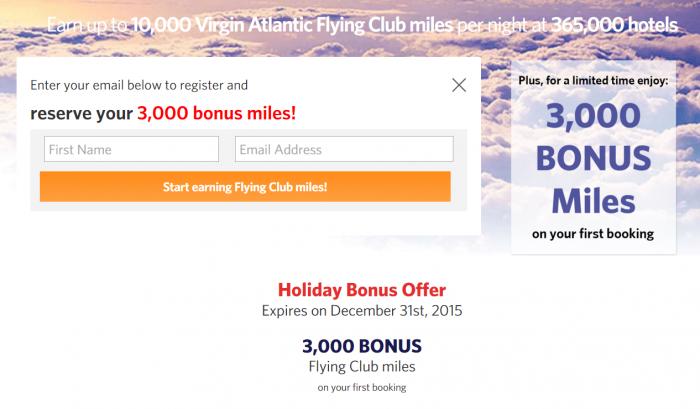 Kaligo Virgin Atlantic 3,000 Bonus Miles First Booking By December 31 2015