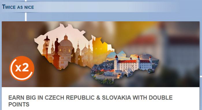 Le Club AccorHotels Double Points Czech Republic & SLovakia November 1 - December 31 2015