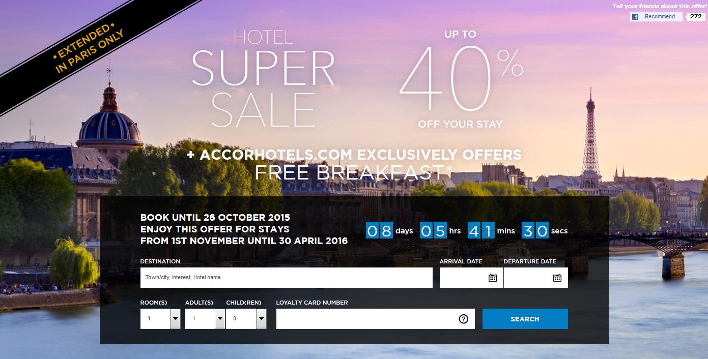 Le club accorhotels 40 off paris super sale for stays for Super hotel paris