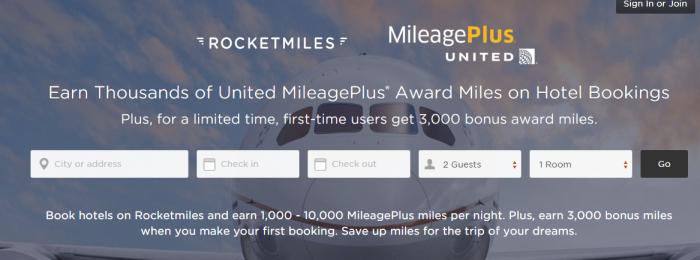 Rocketmiles United Airlines 3,000 Bonus Miles First Booking Until December 31 2015