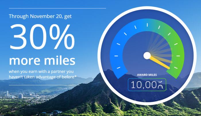 United Airlines MileagePlus 30 Percent Bonus Until November 20 2015