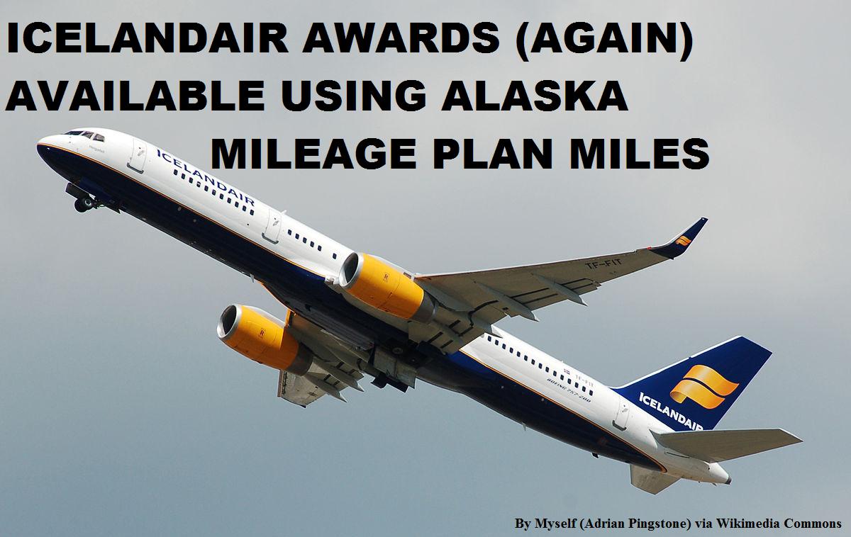 Alaska Mileage Plan Update Icelandair Awards Now