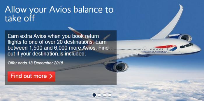 British Airways Bonus Avios Promotion