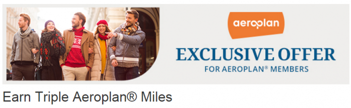 Choice Hotels Air Canada Aeroplan Triple Miles October 15 - December 31 2015