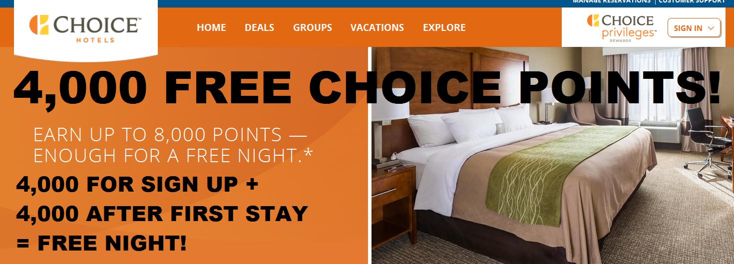 Best hotel rewards program choice privileges choice hotels for Choice hotels