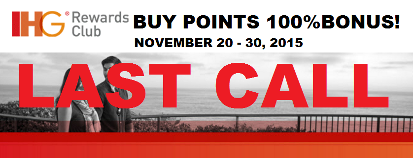 Last call ihg rewards club buy amp gift points 100 bonus november 20