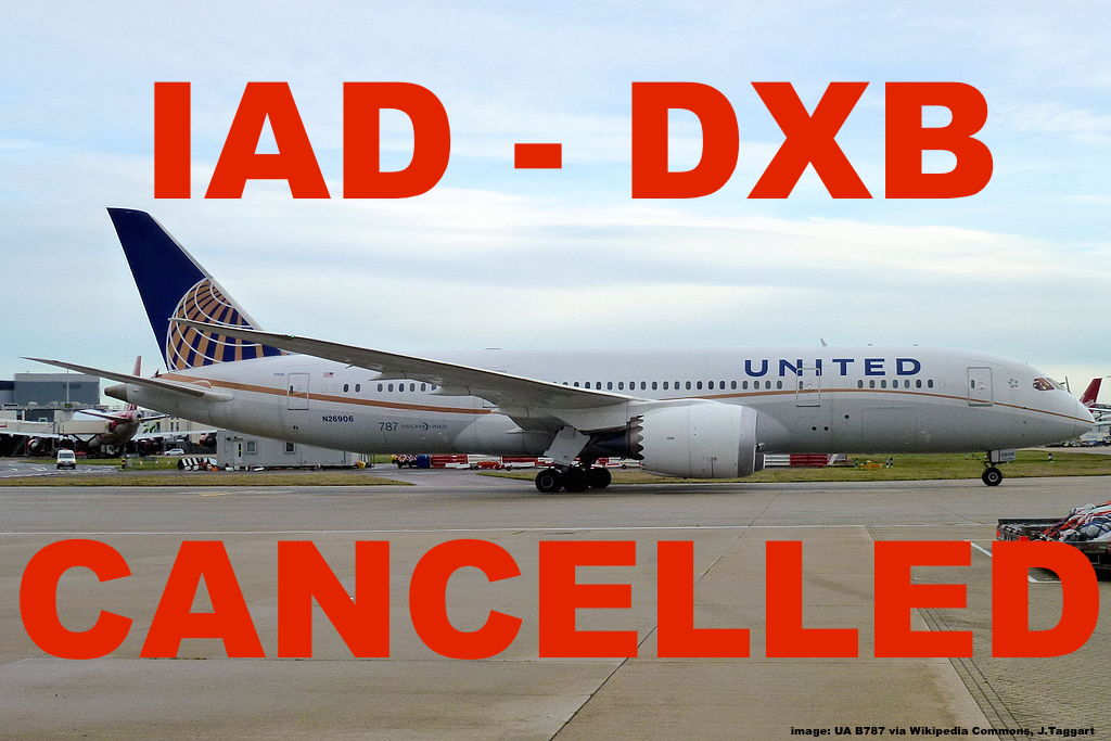 United Airlines Washington Dubai Route To Be Axed After Losing Us