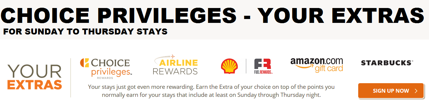 Choice Hotels Privileges Your Extras